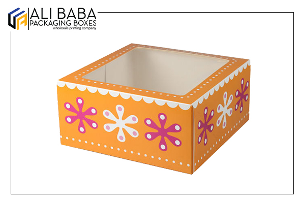 Bakery boxes with window